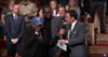 U.S Air Force veteran Vernitta Love, her son Aaron, and Jimmy Fallon.