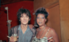 Ron Wood of the Rolling Stones with Aretha Frankin.