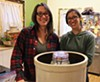 Alison Heeres (left) and Gwen Meyer of Coriander Kitchen and Farm, in the midst of a fermentation frenzy.
