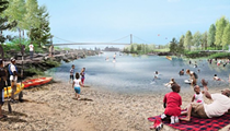West Riverfront Park design winner envisions beachy cove for swimming