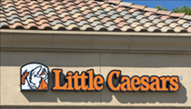 Little Caesars mascot has a subliminal message on his toga and we swear we're not high