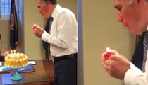 Meet this week's distraction: Mitt Romney blowing out candles on his Twinkie cake