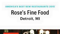 Rose's Fine Food makes Bon Apetit best new restaurant list