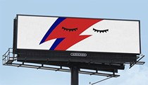 Locals pay tribute to David Bowie through billboards