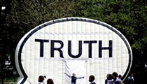 Speak your truth inside an inflatable speech bubble this summer