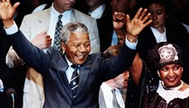 In the summer of 1990, a newly freed Nelson Mandela flew into Detroit onboard one of Donald Trump's short-lived Trump Shuttles for an anti-apartheid rally at Tiger Stadium