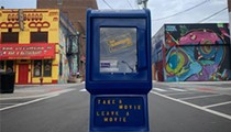 Detroit now has a Free Blockbuster box so you can swap DVDs or VHS tapes like the good old days (minus the late fees)