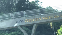 Someone spray painted 'Kanye' onto a WMU sign and we can't stop laughing
