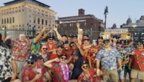 A bunch of dudes dressed as Magnum P.I. got kicked out of Comerica Park