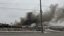 Detroit firefighters prepare for 'long haul' at site of quarter-acre blaze