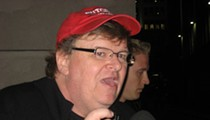 Did Michael Moore unwittingly attend an anti-Trump rally allegedly organized by Russians?
