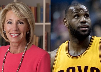 Someone started a petition to replace Betsy DeVos with Lebron James and honestly it's not a bad idea