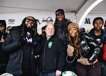 Rappers Icewear Vezzo and Kash Doll helped give away 2,000 turkeys to Detroiters for Thanksgiving