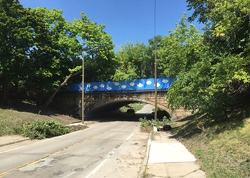 Davin Brainard's 'cloud bridge' repainted in Southwest