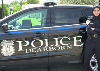Dearborn police department is the first in the country to have a uniformed officer who also wears a hijab