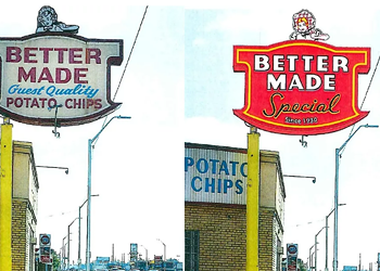 Better Made chips is switching its sign for a new, better made one