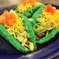 What better way to celebrate St. Patrick's Day than eating green puffy tacos in Campus Martius