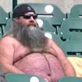 Topless dude at Tigers game gives endless winter weather a brave 'fuck you'