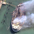 Boblo Boat catches fire outside Detroit marina