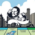 This map shows all of the Detroit buildings owned by Dan Gilbert