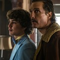 Richie Merritt and Matthew McConaughey play Richard Wershe Jr. and Sr. in <i>White Boy Rick</i>.