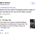 Misanthropic pharmaceutical CEO quotes Eminem during Twitter freakout