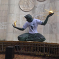 Photo of the Day: Spirit of Detroit flaunts its Spartan pride