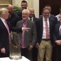 Trump calls Dan Gilbert a 'great friend' and supporter during strange photo op