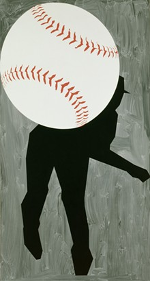 ROBERT MOSKOWITZ (AMERICAN, BORN 1935), HARD BALL III, 1993, OIL ON CANVAS.