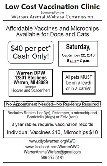 Uploaded by Warren Animal Welfare Commission