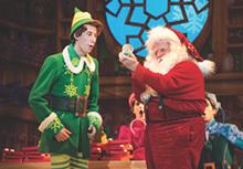 JOAN MARCUS - Matt Kopec (Buddy) and Gordon Gray (Santa)