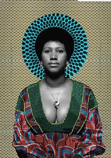 ARETHA FRANKLIN PORTRAIT BY MAKEBA RAINEY