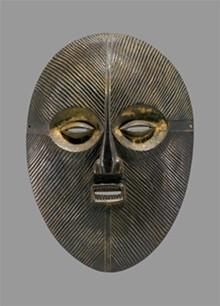 COLLECTION OF DR. ROBERT HORN - Luba people, Democratic Republic of Congo, Kifwebe Mask, no date, wood, 13 inches.
