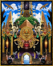 "COURTESY OF LIBRARY STREET COLLECTIVE - Manzel Bowman, ""Deities Day & Night II."""