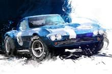 COURTESY OF ROBERT KIDD GALLERY - Blue Corvette.