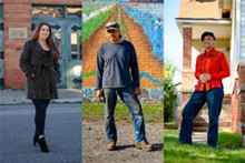 JUAN CARLOS DUEWEKE-PEREZ - Longtime Hubbard Richard residents Evelyn Sparks, Vito Valdez, and Betty Kennedy are among those featured in a new photo exhibition about the community.