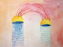 """Desert Words,"" watercolor, Jessica Frelinghuysen, 2015."
