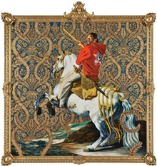 "COURTESY OF RUBELL FAMILY COLLECTION, MIAMI - ""Equestrian Portrait of the Count Duke Olivares,"" Kehinde Wiley, 2005."