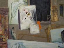 """Self-Portrait 20,"" 48"" x 64"", oil on wood, 2005"