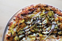 PHOTO BY SCOTT SPELLMAN. - The Insane Cauliflower Pizza (ICP) at Pie-Sci.
