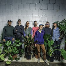 From left to right: Larry Williams (Tyvek, the Intended), Glen Morren (the Intended), Bobby Columbo (Tyvek), Kevin Boyer (Tyvek, the Intended), Shelley Salant (Tyvek), Heath Moerland (the Intended), and Matt Ziolkowski (Tyvek).