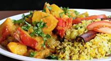 PHOTO BY SARAH RAHAL. - Basmati rice and potatoes