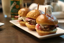 PHOTO BY SARAH RAHAL. - Lamb sliders.