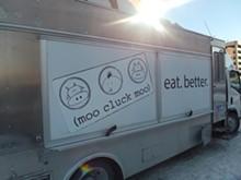 PHOTO BY SERENA MARIA DANIELS - Moo Cluck Moo's food truck.