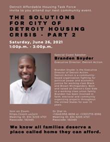Detroit Affordable Housing Task Force -  Zoom Event - Uploaded by Nzingha Masani-Manuel