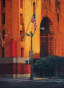 Guardian Building by Dale Alcocer, oil on canvas - Uploaded by ryankaltenbach
