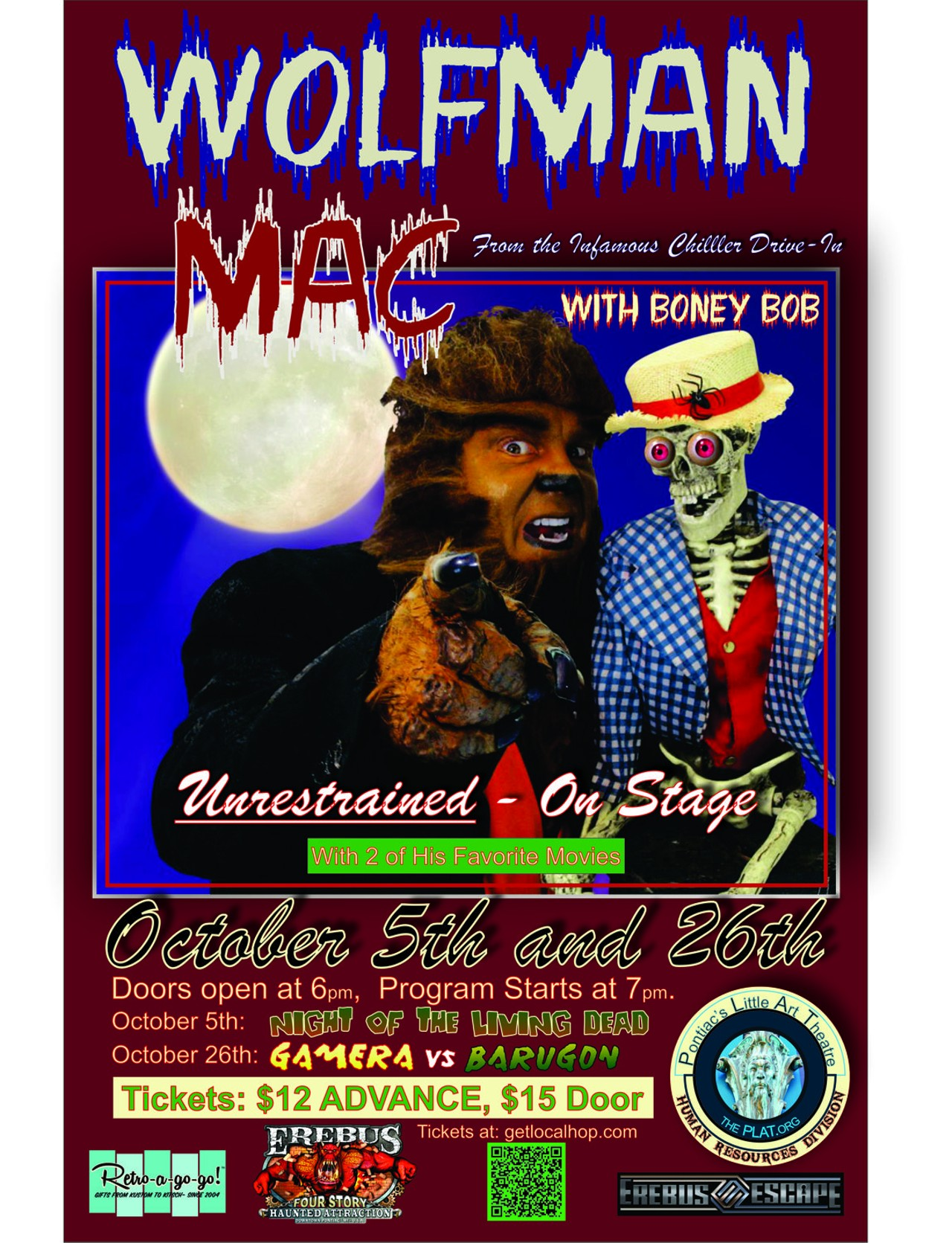 wolfman mac is back with scary movie night!   performance, halloween