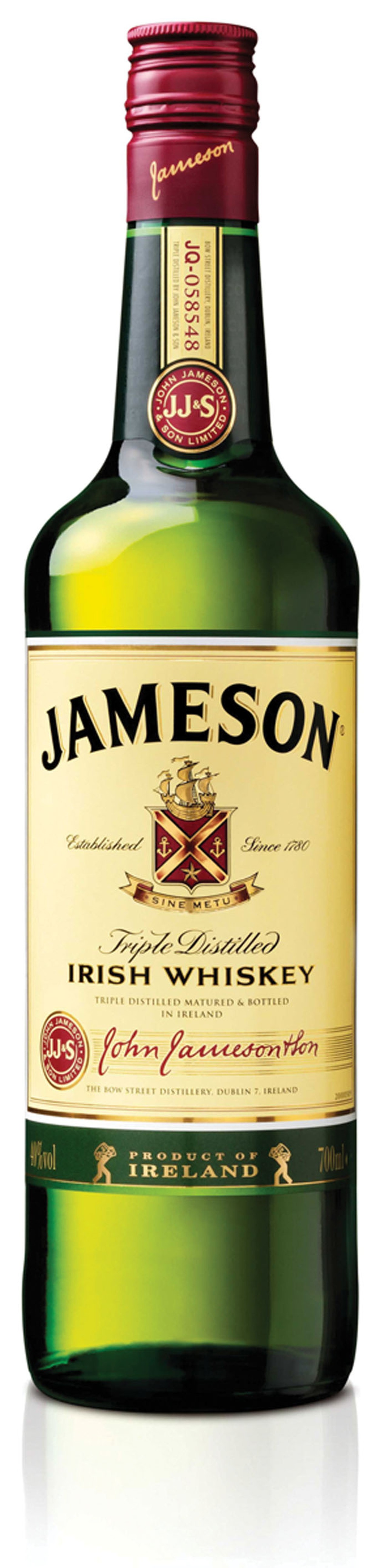 A special edition of jamesons blended irish whiskey