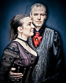 Up in the Aether: The Steampunk Convention founder Michael Wiggins and his wife, Cindy.