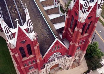 Video: Explore Detroit's historic churches from above